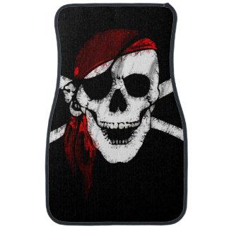 Creepy Pirate Skull and Crossbones Car Mat