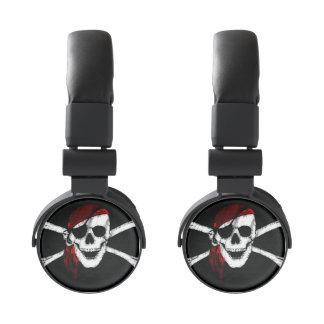 Creepy Pirate Skull and Crossbones Headphones