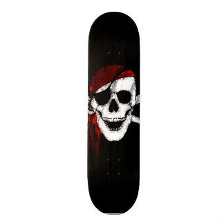 Creepy Pirate Skull and Crossbones Skateboard
