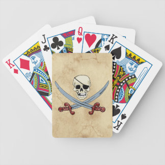 Creepy Pirate Skull & Crossed Cutlasses Bicycle Playing Cards