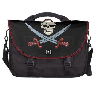 Creepy Pirate Skull & Crossed Cutlasses Commuter Bags