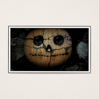 Creepy  Pumpkin Jack-o-Lantern Business Card
