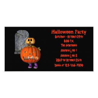 Creepy Pumpkin Man Halloween Party Invite