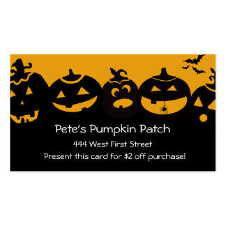 Creepy Pumpkin Patch... Double-Sided Standard Business Cards (Pack Of 100)