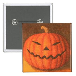 Creepy Pumpkin Pinback Button