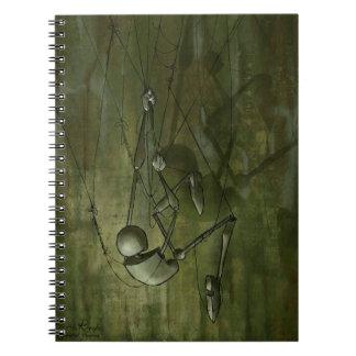 Creepy Puppet Painting, Climbing Spiral Notebook