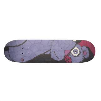 Creepy Purple Stuffed Teddy Bear Skateboard