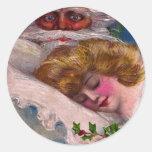 Creepy Santa Claus Pretty Woman Christmas Sticker