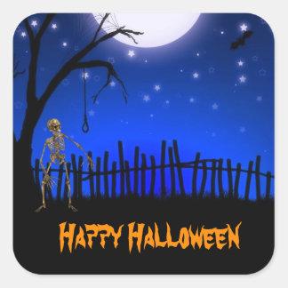 Creepy & Scary Halloween Square Sticker