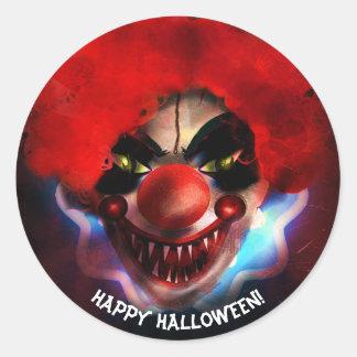 Creepy Scary Killer Clown Halloween Party Favor Classic Round Sticker