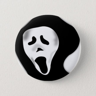 Creepy Scary Screaming Ghostly Ghoul Face Pinback Button