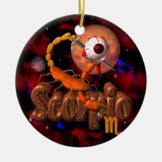 Creepy Scorpio zodiac astrology by Valxart Christmas Tree Ornaments