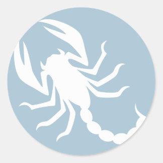 Creepy Scorpion Classic Round Sticker