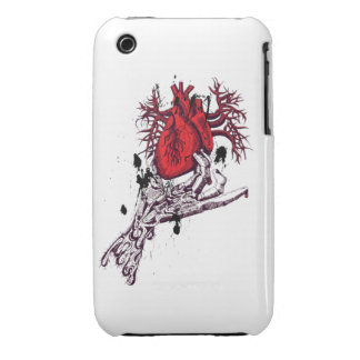 Creepy Skeleton Hand holding Bloody Heart iPhone 3 Case-Mate Case