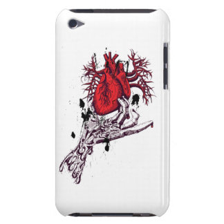Creepy Skeleton Hand holding Bloody Heart iPod Touch Case-Mate Case