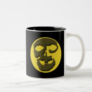Creepy Skull Face and Full Moon Products Mug
