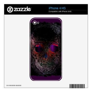 Creepy Skull, Grunge, Goth, Halloween iPhone 4S Decals