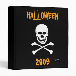 Creepy Skull Halloween Party Photo Scrapbook Album 3 Ring Binder