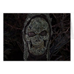 Creepy Skull Party Invitation Greeting Cards