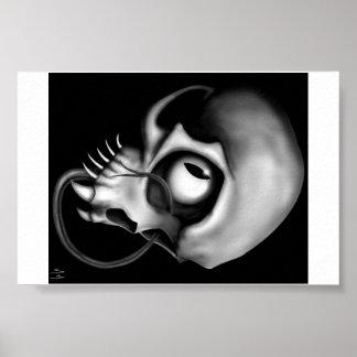 Creepy Skull Poster