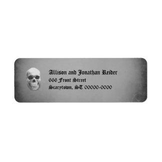 Creepy Skull Return Address Labels