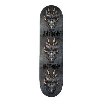 Creepy Skull Skateboard Deck