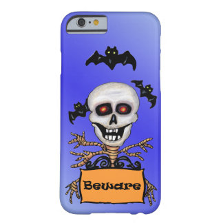 Creepy Skull Tree Beware Sign Bats Barely There iPhone 6 Case