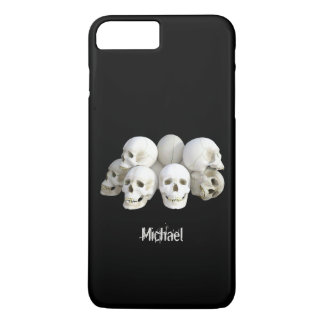 Creepy skulls pile iPhone 7 plus case