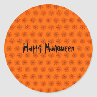 Creepy Spider Halloween Party Favor Sticker