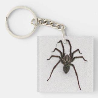 Creepy Spider Square Acrylic Keychain