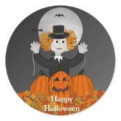 Creepy Spider Man Halloween Stickers sticker