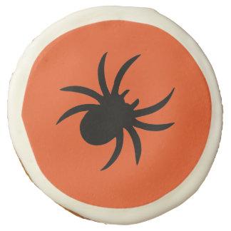 Creepy Spider Orange Cookie