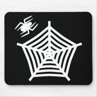 Creepy Spider & Web Mouse Pad