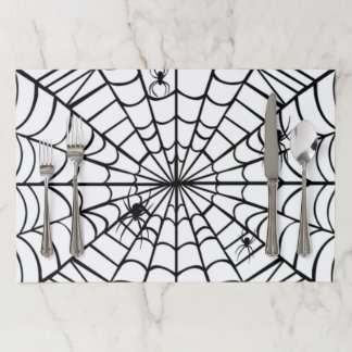 Creepy Spider Web Paper Placemat