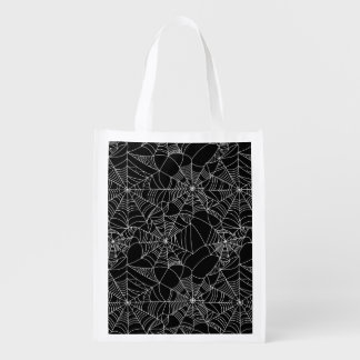 Creepy Spider Webs Grocery Bag