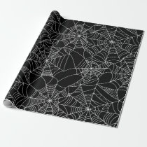 Creepy Spider Webs Wrapping Paper
