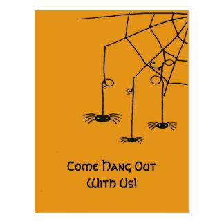 Creepy Spiders Postcard