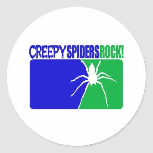 Creepy Spiders Rock Classic Round Sticker