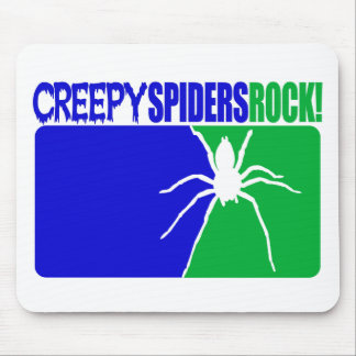 Creepy Spiders Rock Mouse Mat