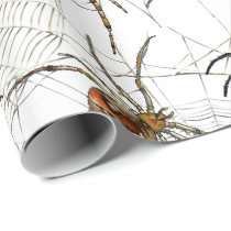 Creepy Spiders Web Pattern Wrapping Paper