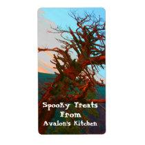 Creepy Tree Halloween Treats Baking Label Shipping Label