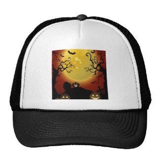 Creepy trees design trucker hat