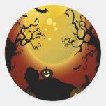 Creepy trees design sticker