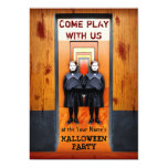 Creepy Twins Horror Halloween Party Card