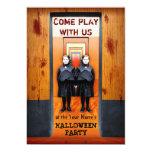 Creepy Twins Horror Halloween Party 5x7 Paper Invitation Card