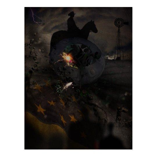 Creepy UFO Crash Postcard