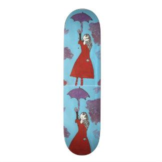 Creepy Umbrella Girl skateboard