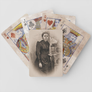 Creepy Undead Lady Ghost Halloween Playing Cards