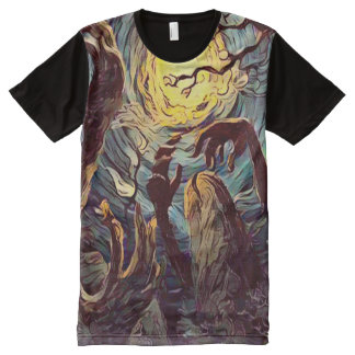 Creepy Undead Zombies Graveyard Dark Horror Art All-Over-Print Shirt