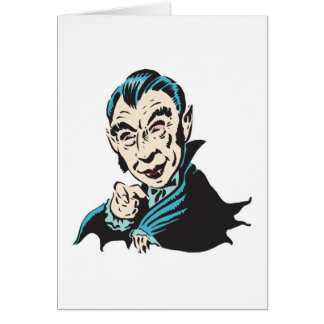 creepy vampire greeting card